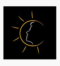 Face of a woman in the sun Photographic Print