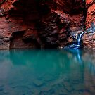Handrail Pool - Weano Gorge - Karijini NP by Matt  Streatfeild