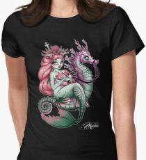 Camiseta entallada para mujer sirena entintado
