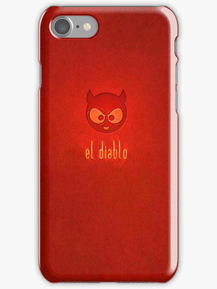el diablo - iPhone case design by Tamara Rogers