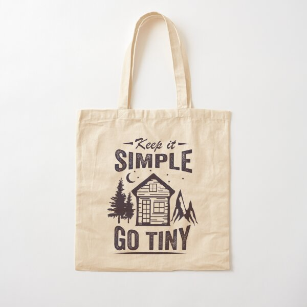 Keep it Simple... Go Tiny (for t-shirts and more) Cotton Tote Bag