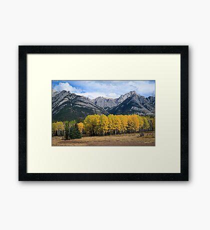 The Bow River Valley, Johnston Canyon - Banff, Alberta, Canada Framed Print