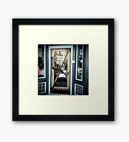 Fish Door - Shopfront Framed Print