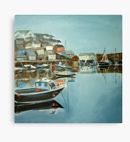 Harbour at Mevagissey Canvas Print