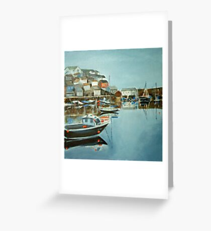 Harbour at Mevagissey Greeting Card
