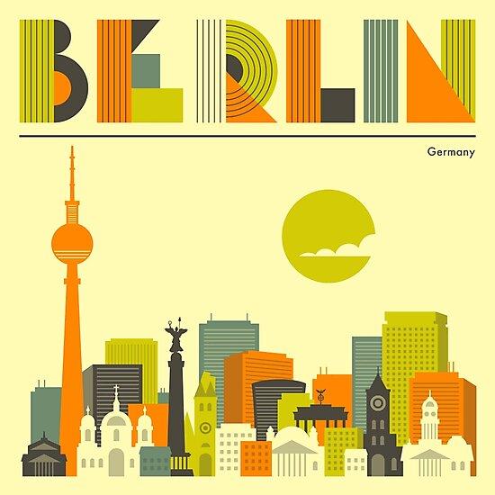 BERLIN CITY SKYLINE  by JazzberryBlue