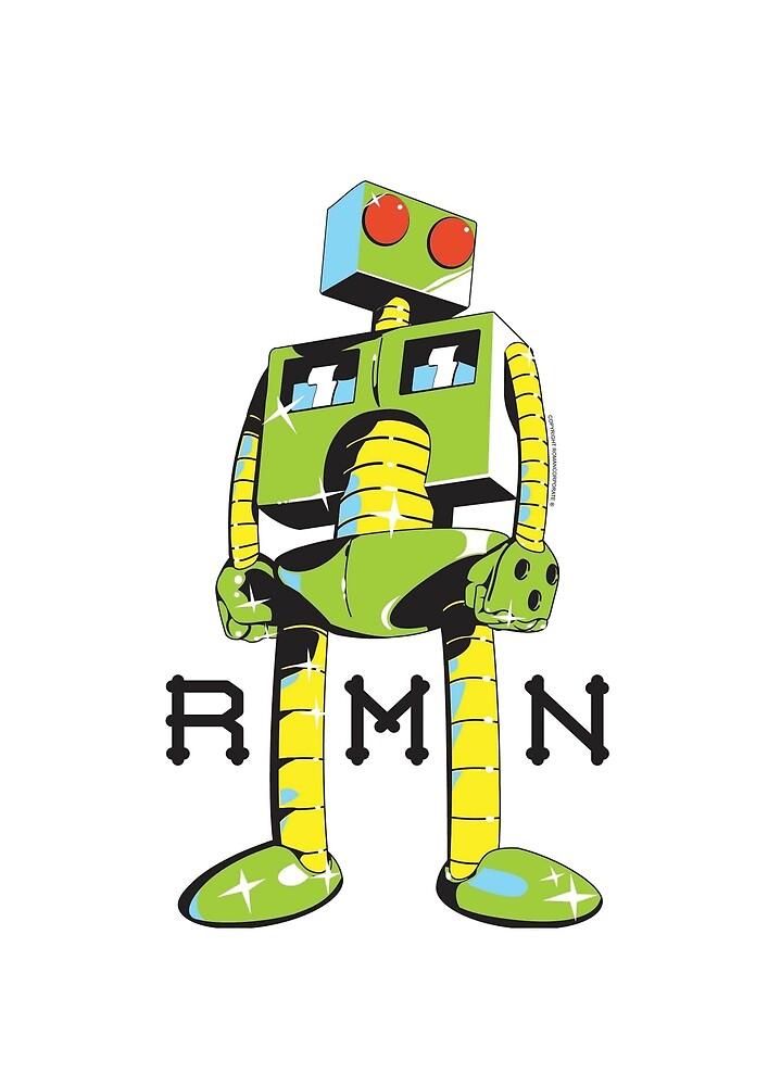 Roman the green robot by prosciutti