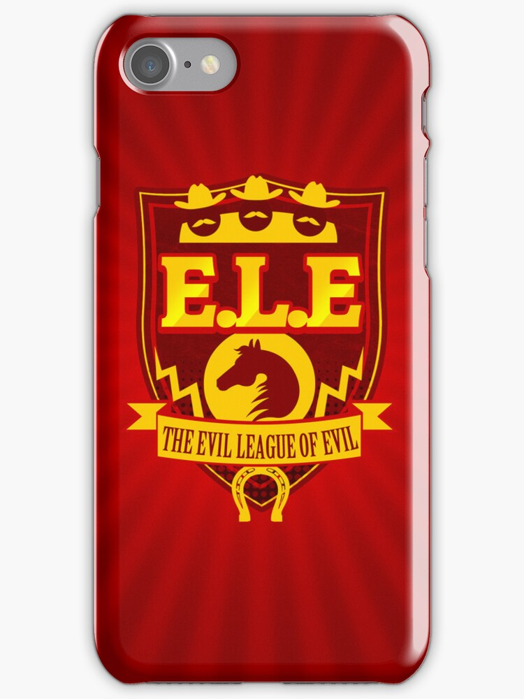 E.L.E- The Evil League of Evil iPhone Case by Tom Trager