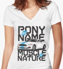 Ford Mustang GT350R Fitted V-Neck T-Shirt