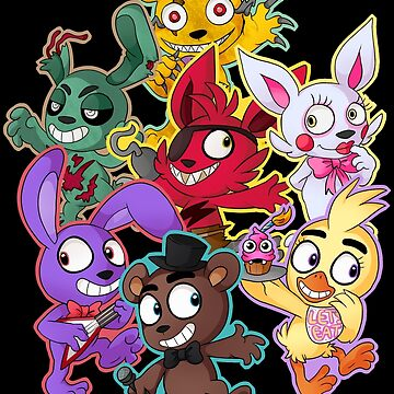 Five Nights at Freddys 1-4 Chibi by InkyBlackKnight