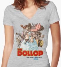 The Dollop - (T-Shirt) Women's Fitted V-Neck T-Shirt