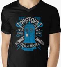 Doctors time travel club Mens V-Neck T-Shirt