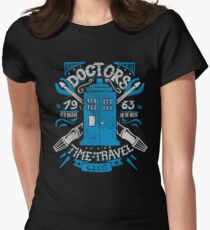 Doctors time travel club Women's Fitted T-Shirt