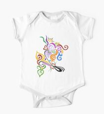 Calligraphic Motif Kids Clothes