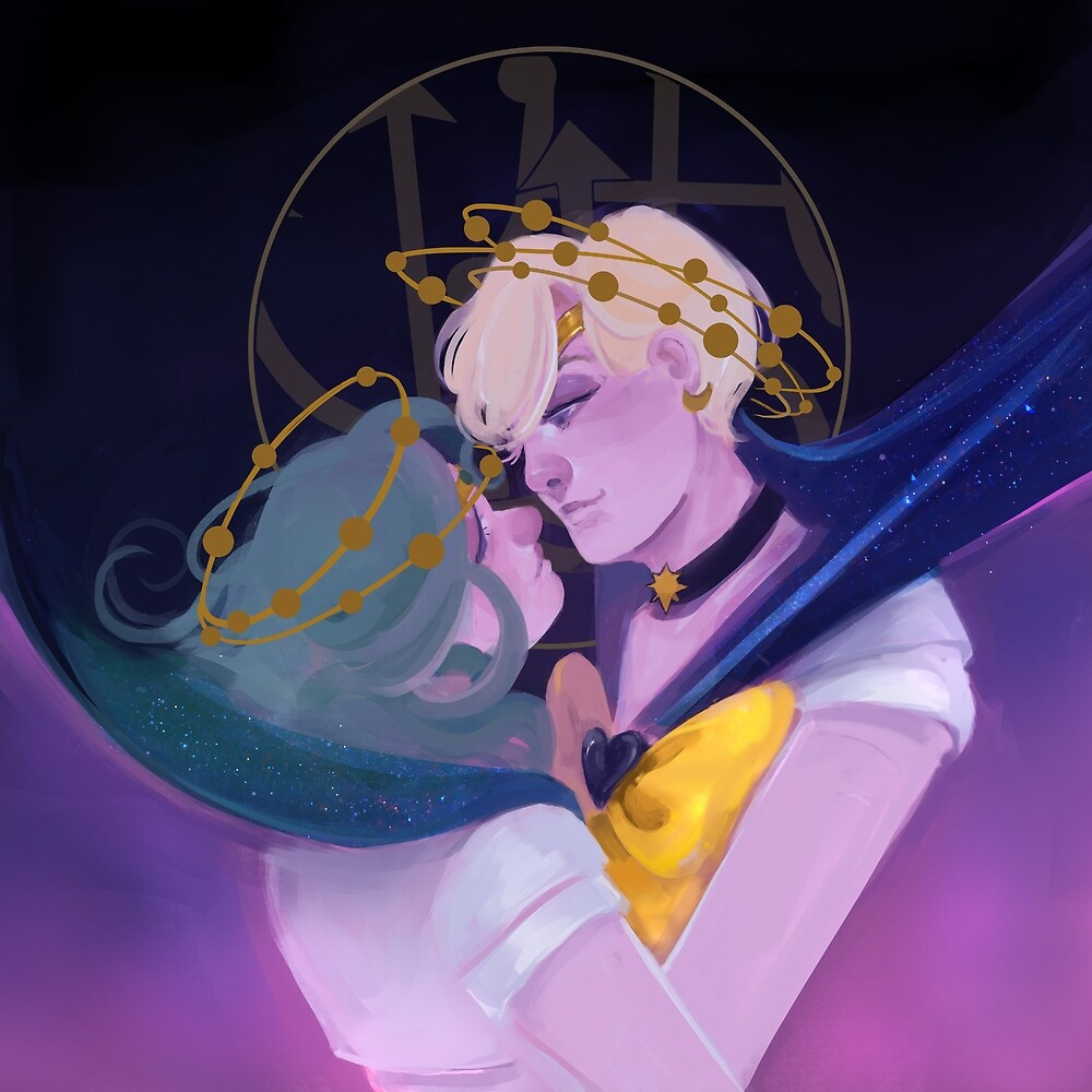moon crowns: uranus and neptune by Lina Nguyen
