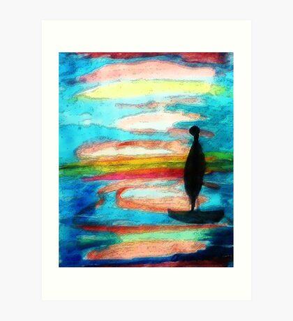 Reflection, watercolor Art Print