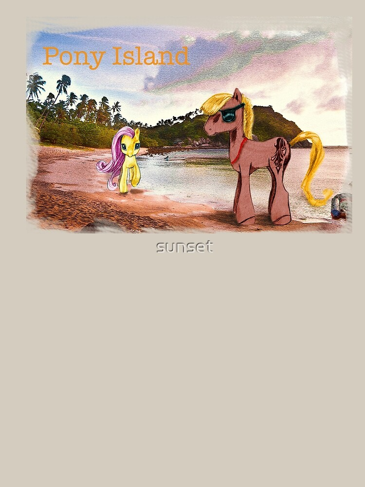 Pony Island by sunset