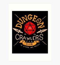 Dungeon Crawlers Club Art Print