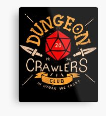 Dungeon Crawlers Club Metal Print