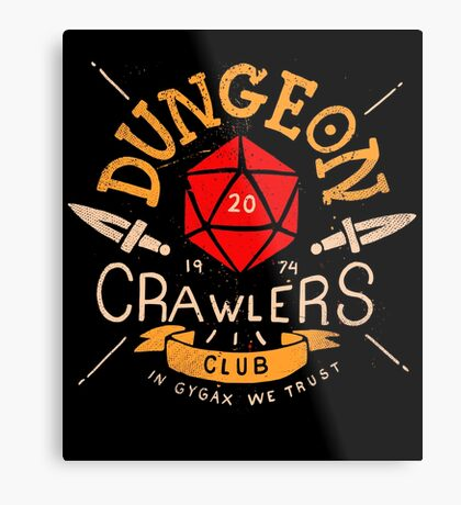 Dungeon Crawlers Club Metal Print