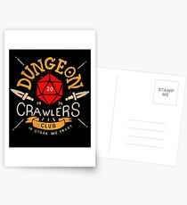Dungeon Crawlers Club Postcards