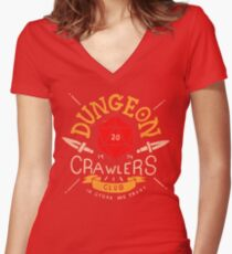 Dungeon Crawlers Club Women's Fitted V-Neck T-Shirt