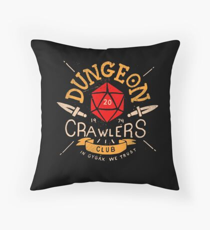 Dungeon Crawlers Club Throw Pillow