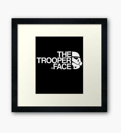 The trooper face Framed Print