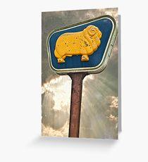 Golden Fleece sign Greeting Card