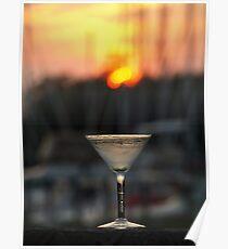 Sunset Martini Poster