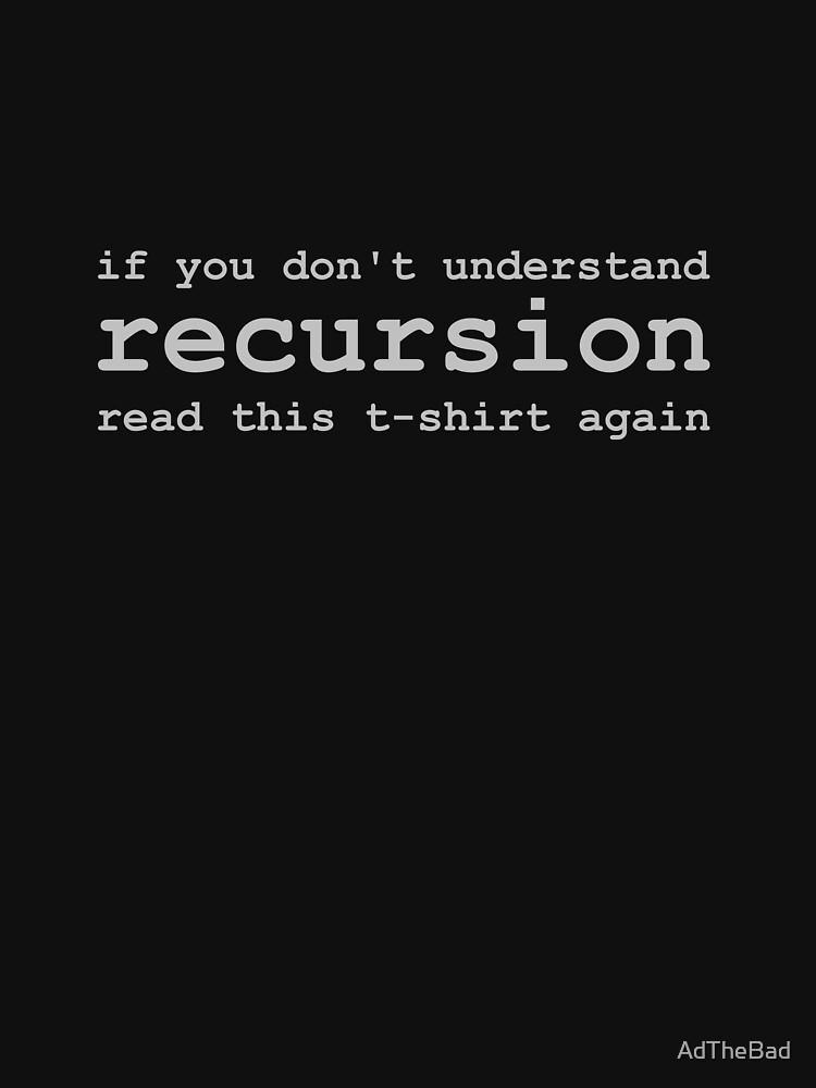 Comprender la recursividad de AdTheBad