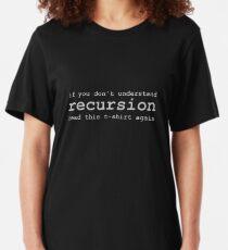 Camiseta ajustada Comprender la recursividad