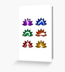 yoga and meditation Greeting Card