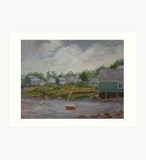 Coastal Village Art Print