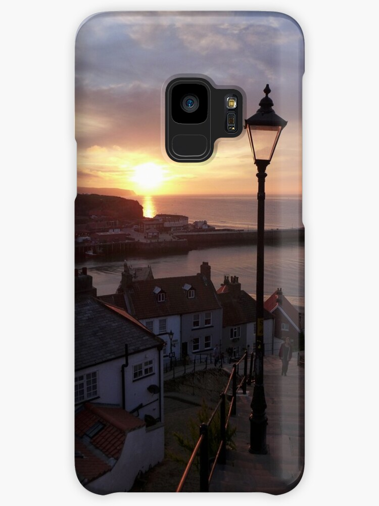 Whitby at sunset from the Abbey steps by Anna Myerscough