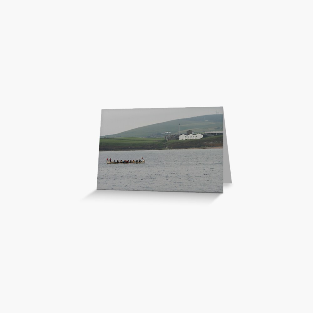 Safely at Scapa Greeting Card