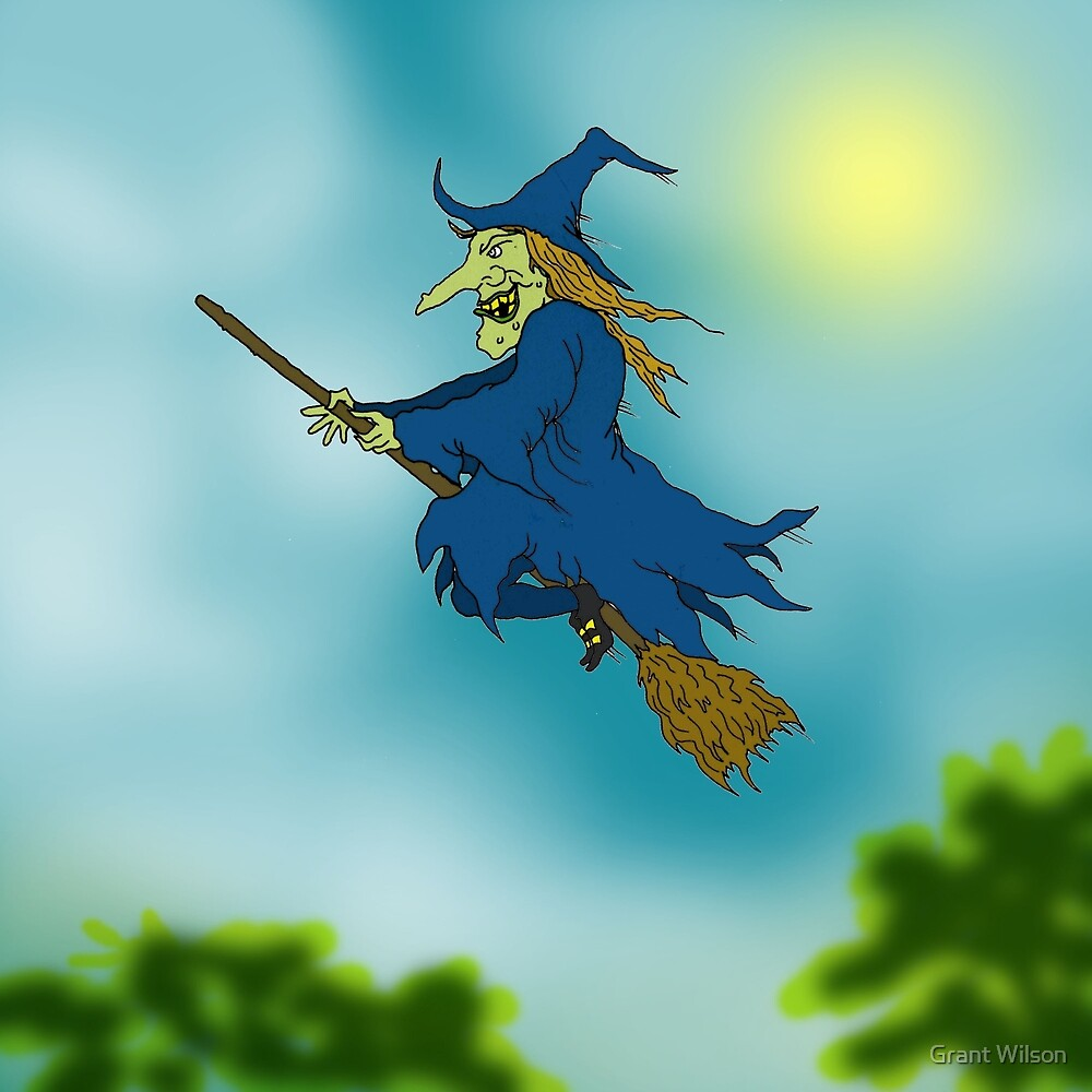 Blue sky Witch. by Grant Wilson