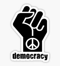 Democracy Sticker
