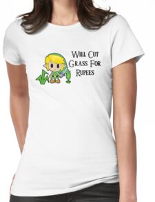 Link Will Cut Grass For Rupees Womens Fitted T-Shirt