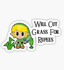 Link Will Cut Grass For Rupees Sticker