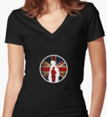 Queen and Country II Women's Fitted V-Neck T-Shirt
