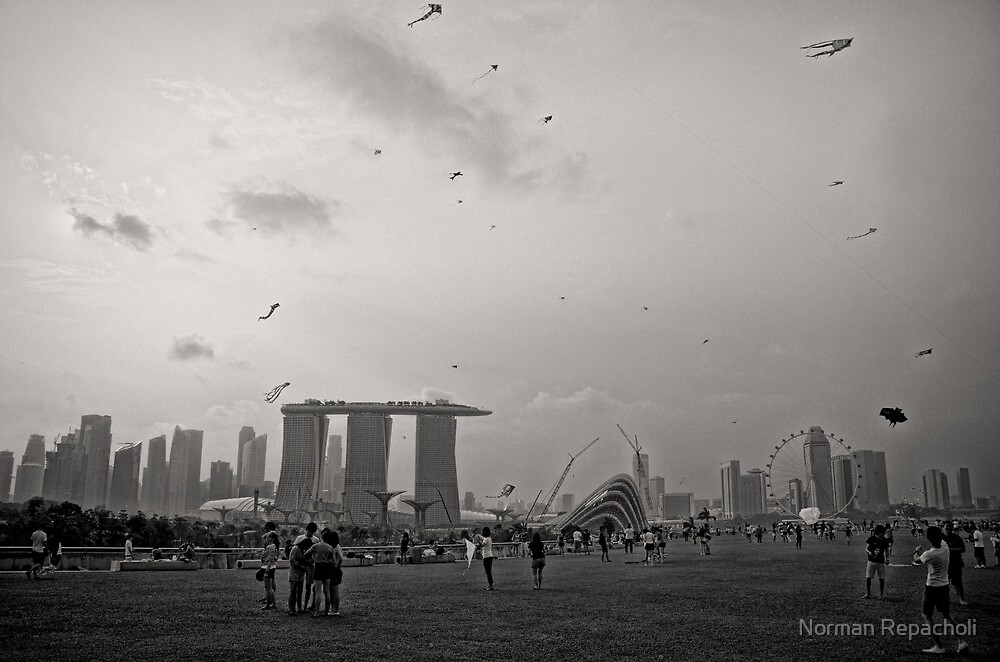 Day of the Kites - Singapore by Norman Repacholi