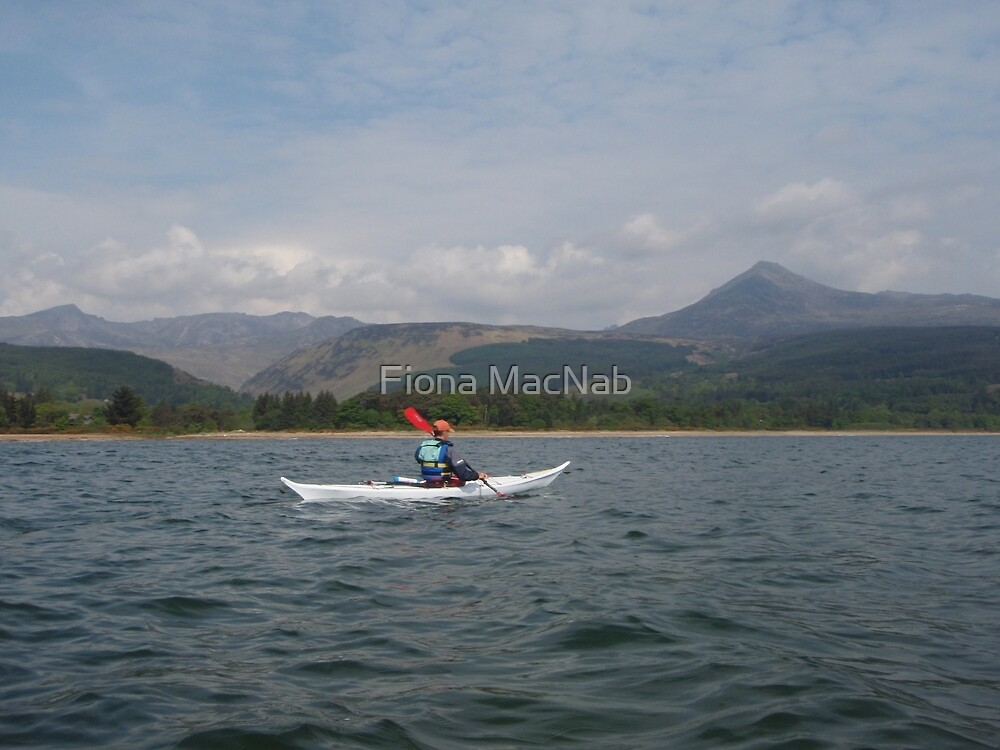 Paddling in Brodick Bay by Fiona MacNab