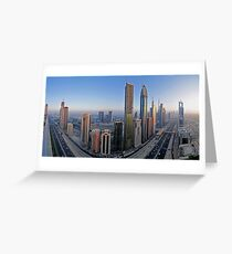 Sheikh Zayed Road Greeting Card
