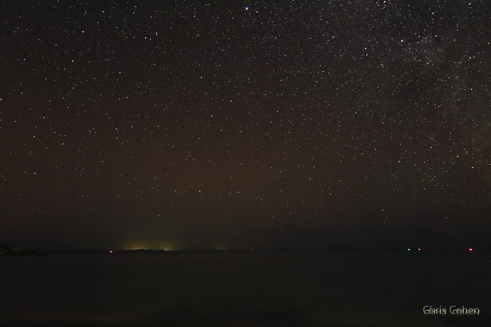 Looking up Endeaour Strait toward Thursday Island by Chris Cohen