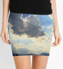 Summer clouds over the Brindabella Range Mini Skirt