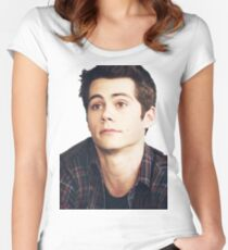 Dylan O'Brien is a puppy Women's Fitted Scoop T-Shirt