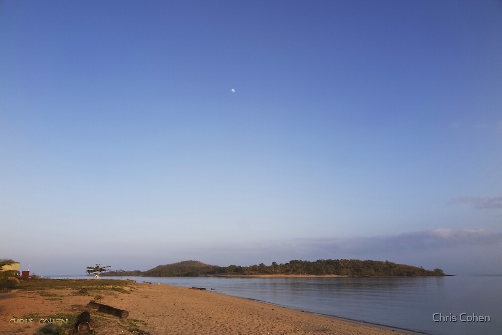 Look at red Island and the Moon descending by Chris Cohen