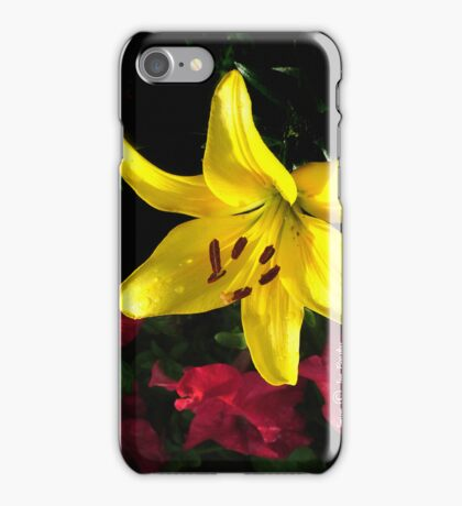 jaune et rouge iPhone Case/Skin