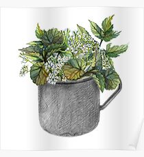 Mug with green forest growth Poster